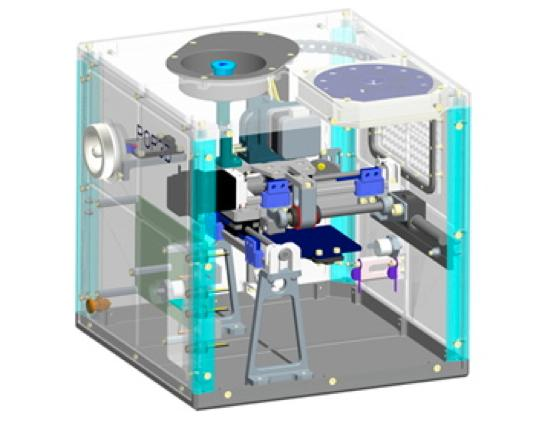 Artist's concept of ESA's POP3D printer (Image: Altran)