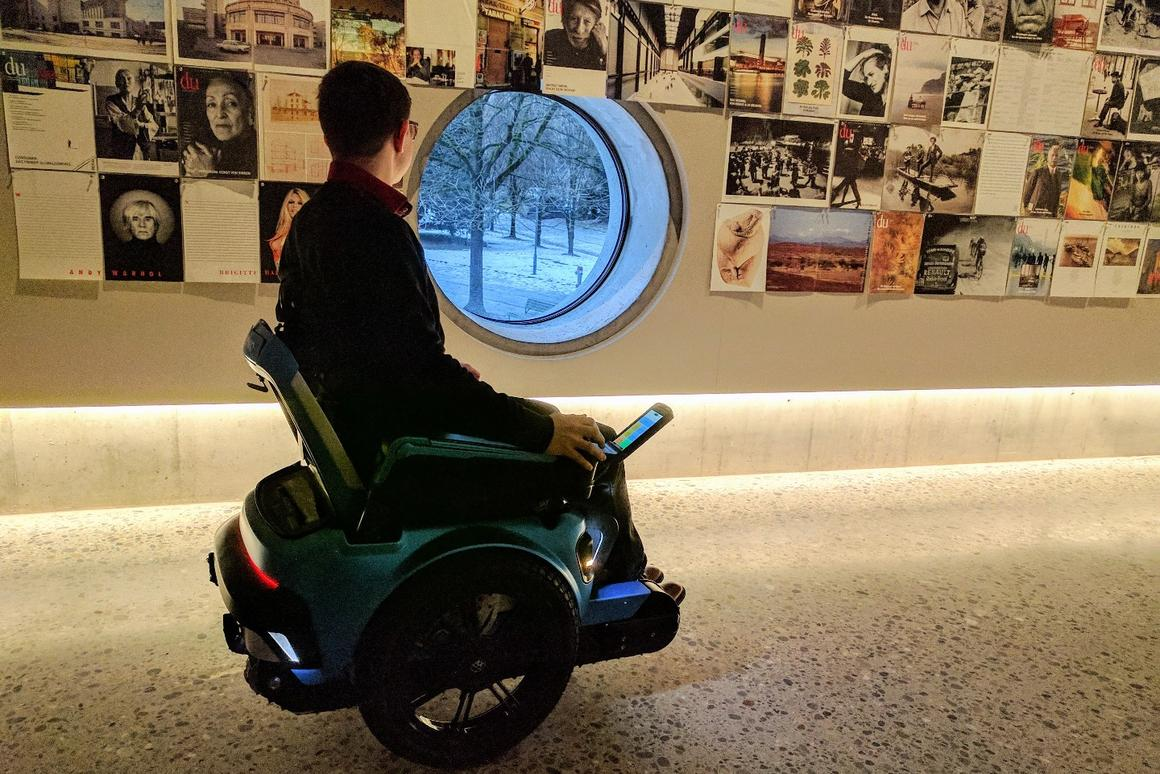 Stylish stair-climbing wheelchair merges the Segway with a tank