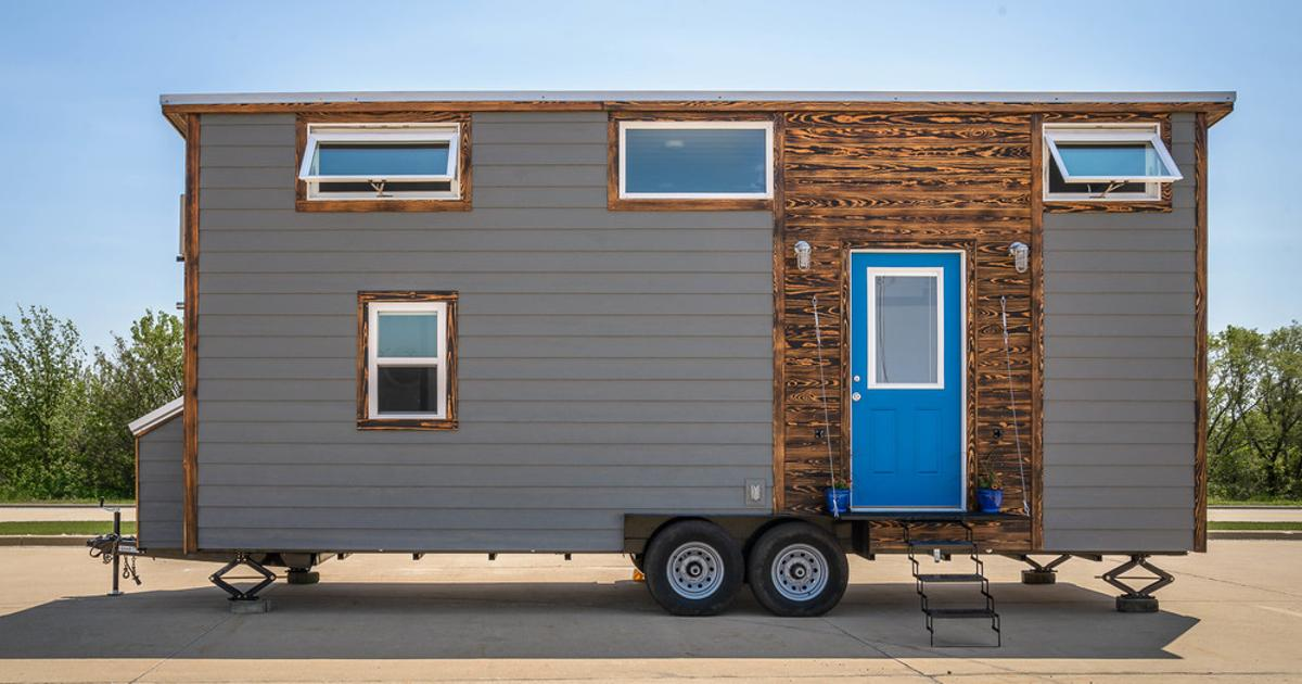 Tiny house packs a home office and walk-in closet