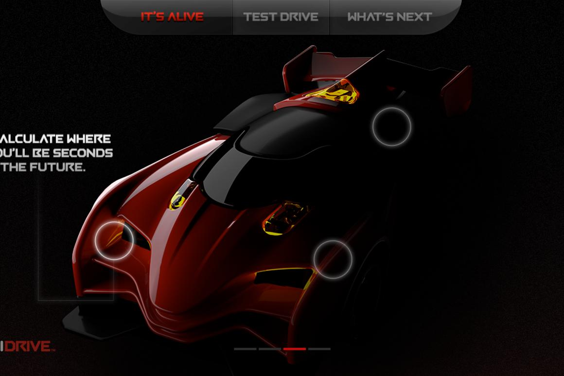 Screen capture from the Anki Drive app, highlighting its AI street smarts