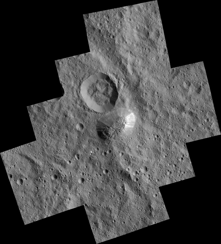 Ahuna Mons as captured by Dawn in its third mapping orbit
