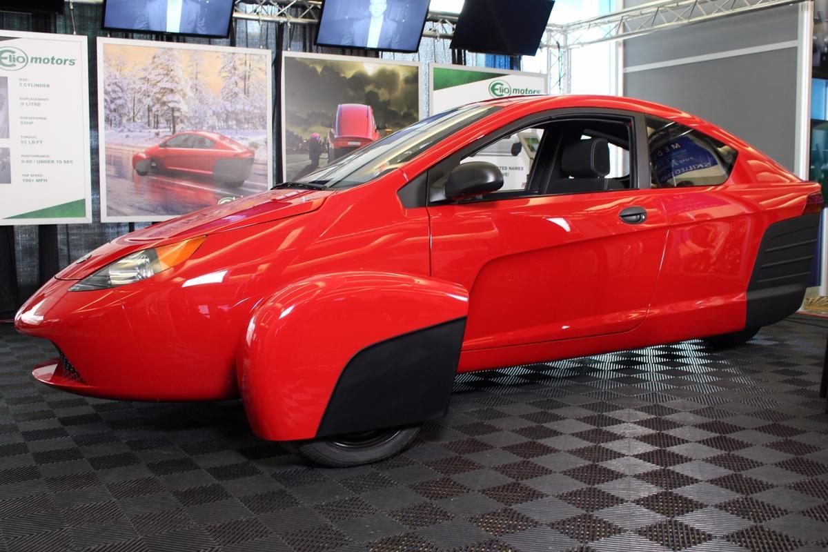 The Elio Motors P5, on display at last year's LA Auto Show
