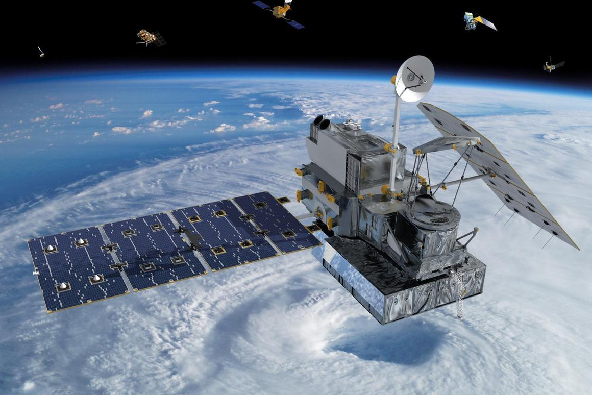 Artist's impression of the GPM Core Observatory due to launch on February 27th (Image: NASA)