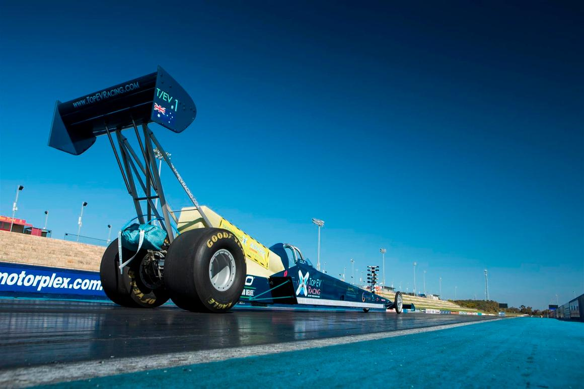 Top Fuel monsters put on notice: 5,000-hp electric dragster