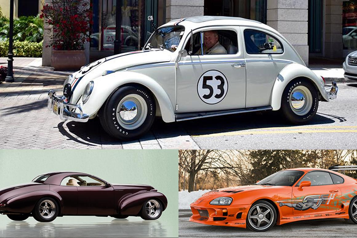 Herbie is just the latest movie car to illustrate the trend of fast growing prices for movie car. Read on for our list of 25 valuable cars that sold for not much, not very long ago. In May two more famous movie cars will go to auction - Will Smith's Blackhawk from Bad Boyz II (1975) and the Toyota Supra driven by the late Paul Walker in The Fast and The Furious (2001).