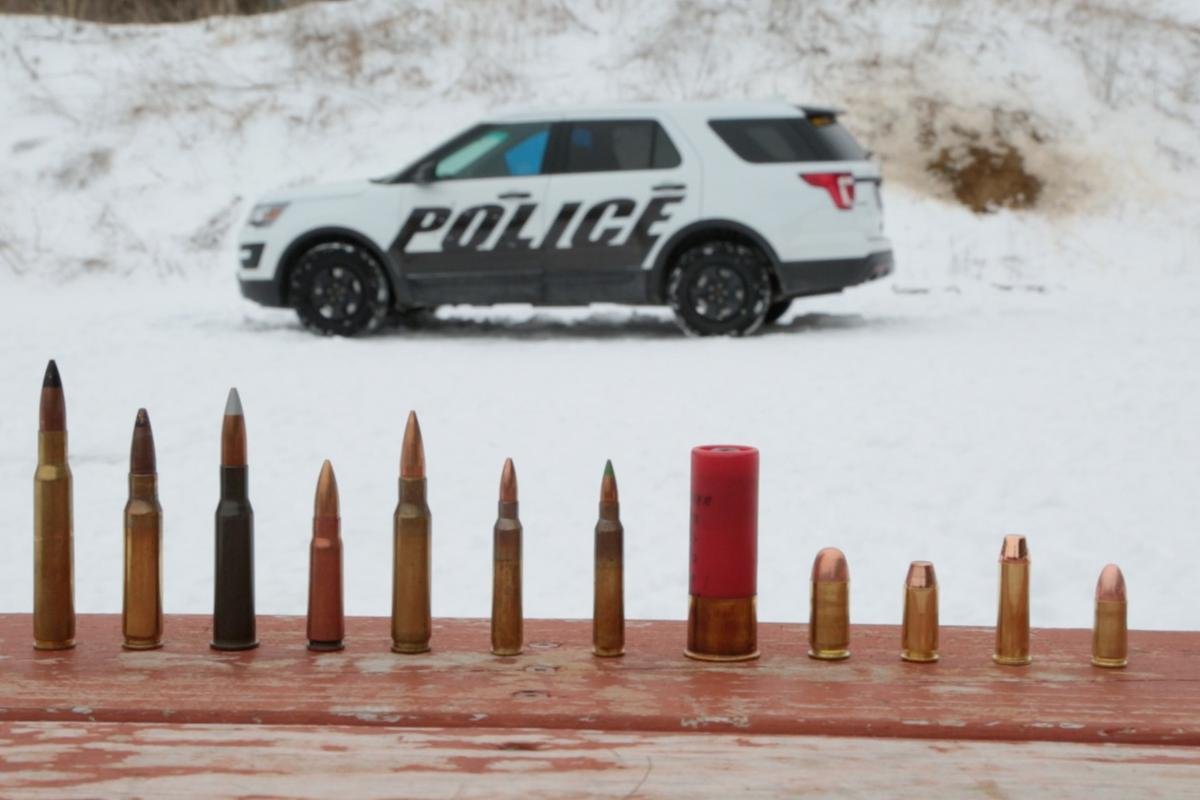 The Ford Interceptor is the first pursuit-rated police vehicle to offer Type IV ballistic panels in the United States
