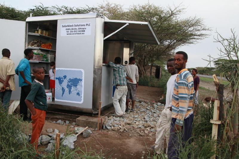 On July 15th, the world's first SolarKiosk was officially opened near Lake Langano, Ethiopia