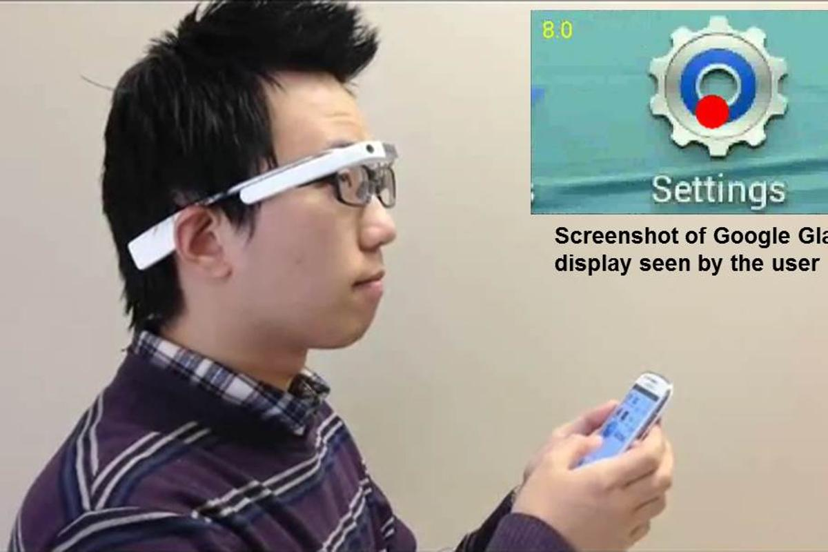 A test subject tries out the Google Glass-based system