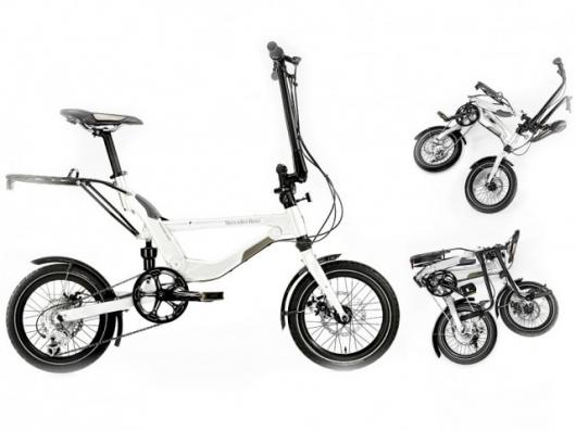 Mercedes-Benz's latest bike collection includes a clever Foldingbike with a choice of folded positions