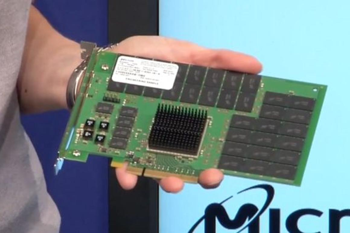 The new Micron RealSSD P320h PCIe drive reads an amazing 3GB of data per second
