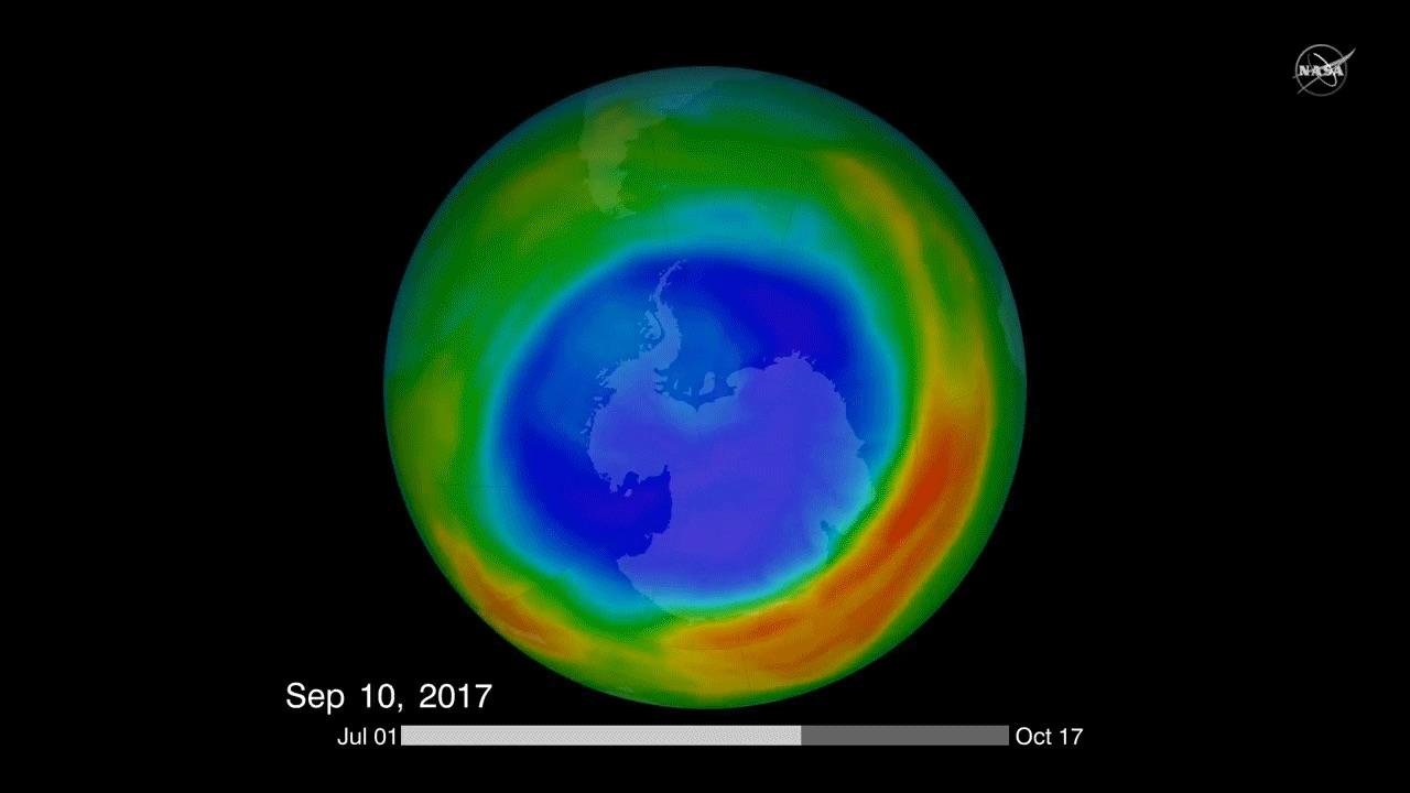 A new study has found chemical evidence that the hole in the ozone layer is healing