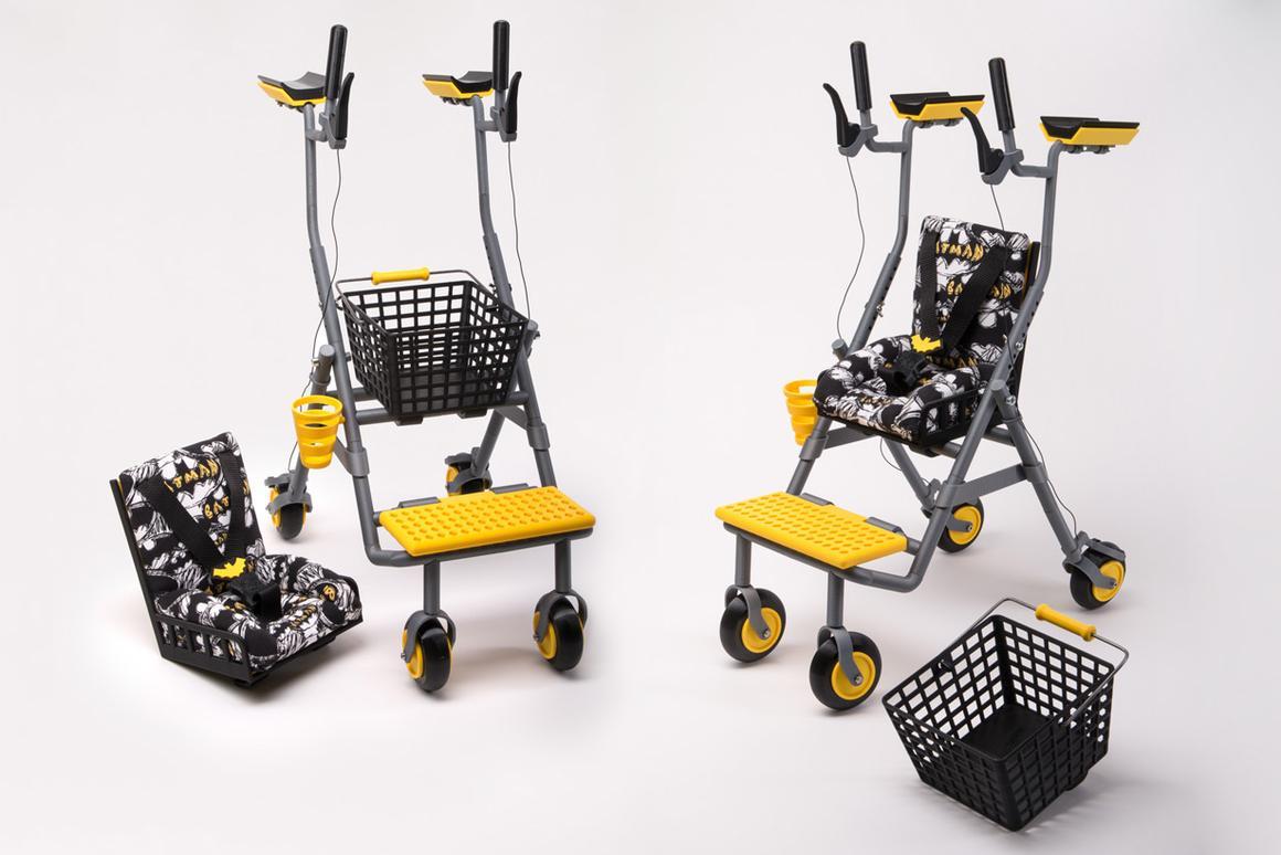 The half-scale 3D-printed multifunctional walker from Eliza Wrobel