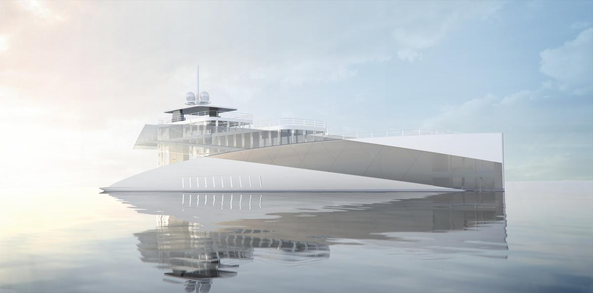Profile rendering of the Feadship Royale