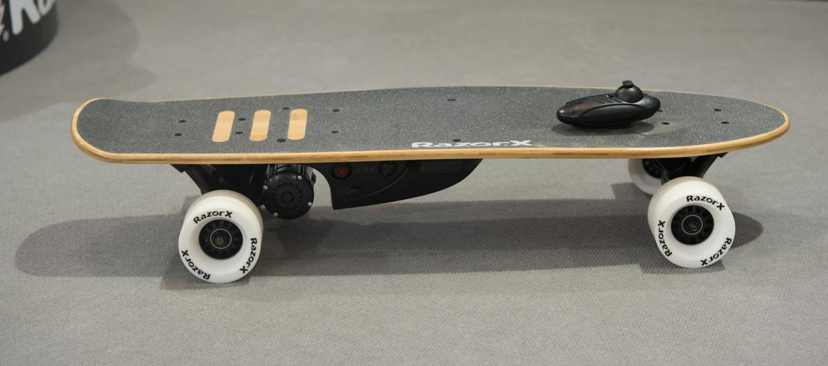 The RazorX Cruiser Electric Skateboard is a lithium-powered ride