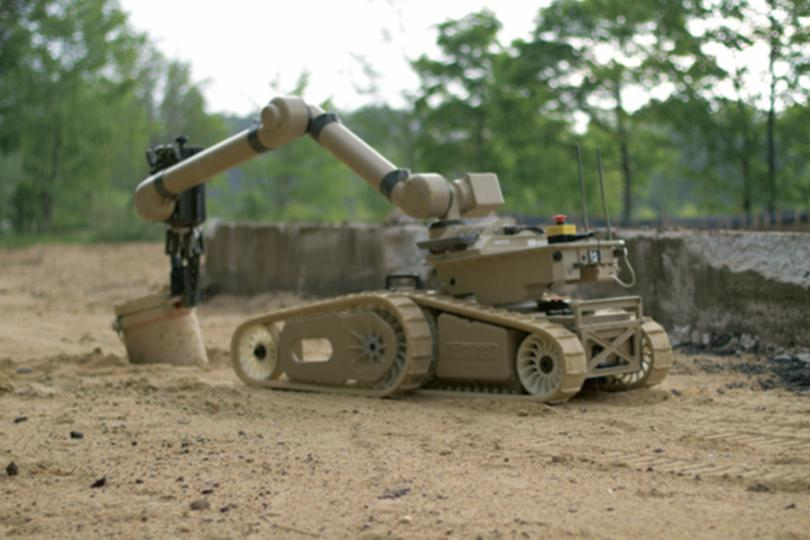 The 710 Warrior can be fitted with a manipulator arm