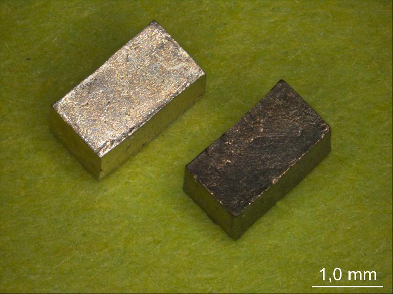 Scientists have created a metallic material that can switch back and forth between hard and soft states