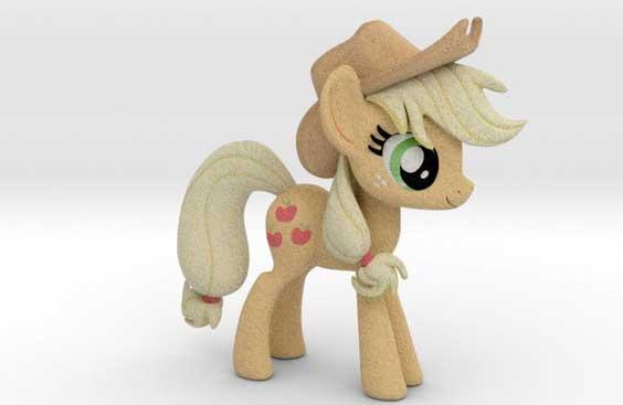 3D artists from the Shapeways community have redesigned Hasbro's popular My Little Pony characters