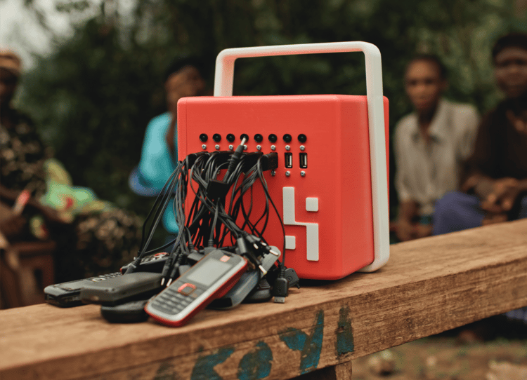 The BuffaloGrid is a solar charging hub for mobile phones