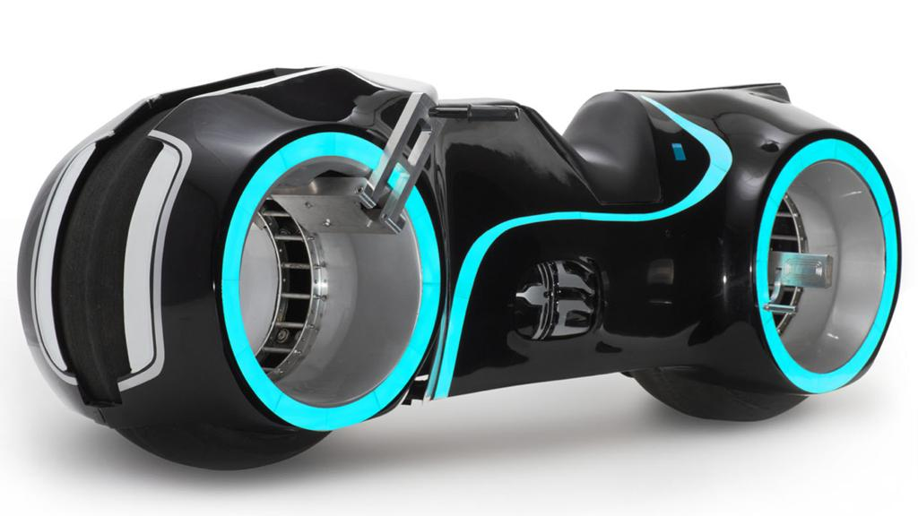 A replica Tron Lightcycle, also known as the Xenon Light Motor Bike is up for auction
