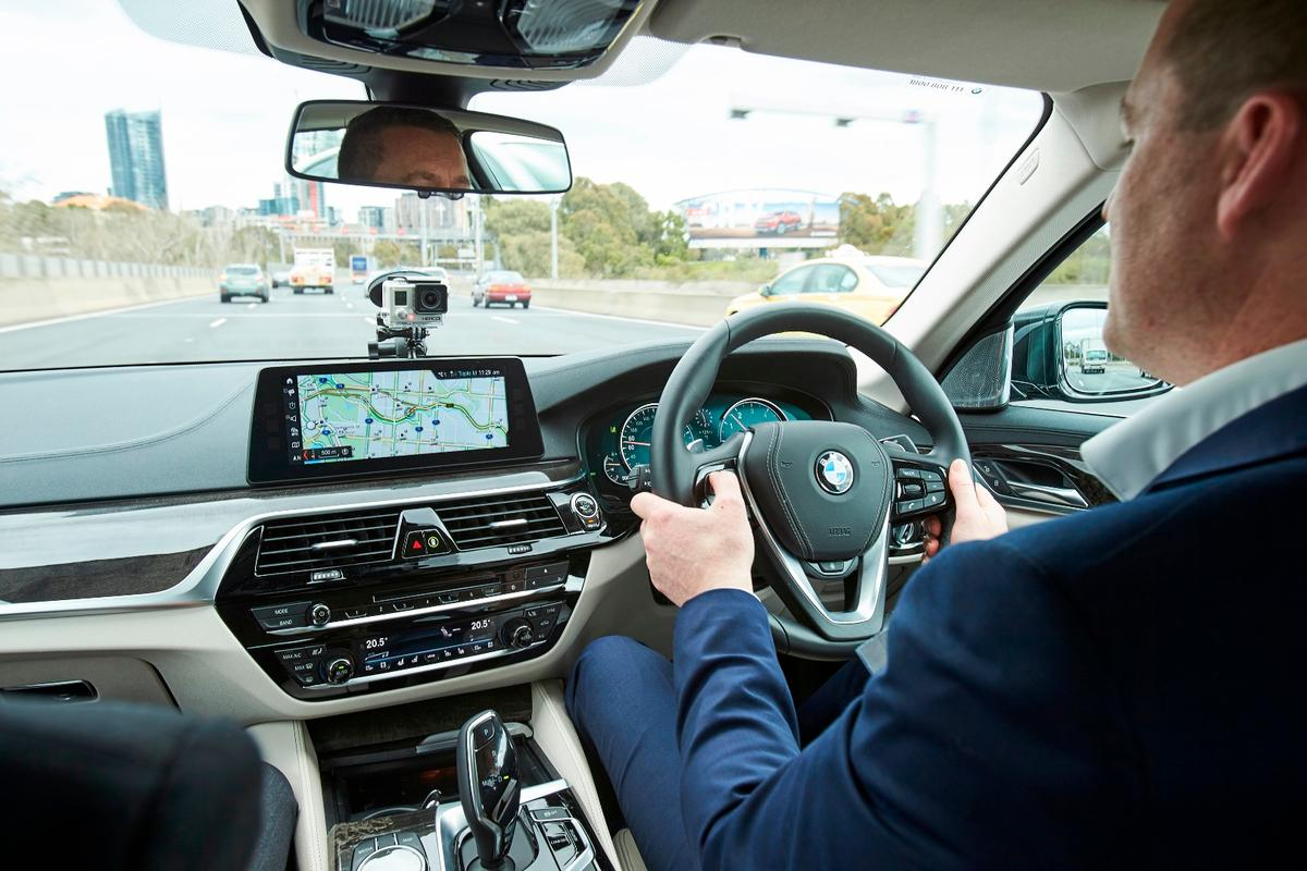 Behind the wheel of a semi-autonomous BMW5 Series