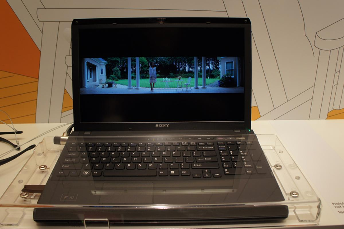 Sony's 3D VAIO laptop prototype