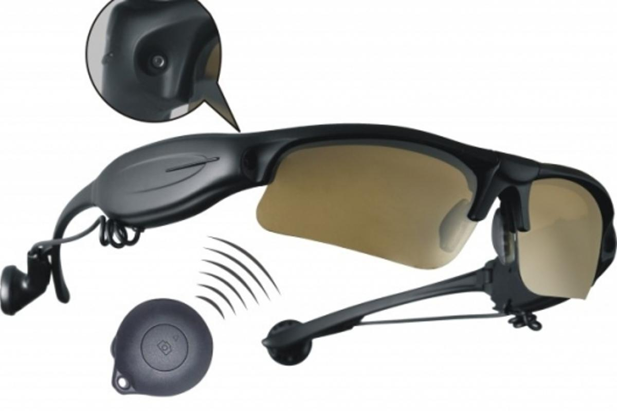The Xonix 5-in-1 video sunglasses can record up to eight hours of footage