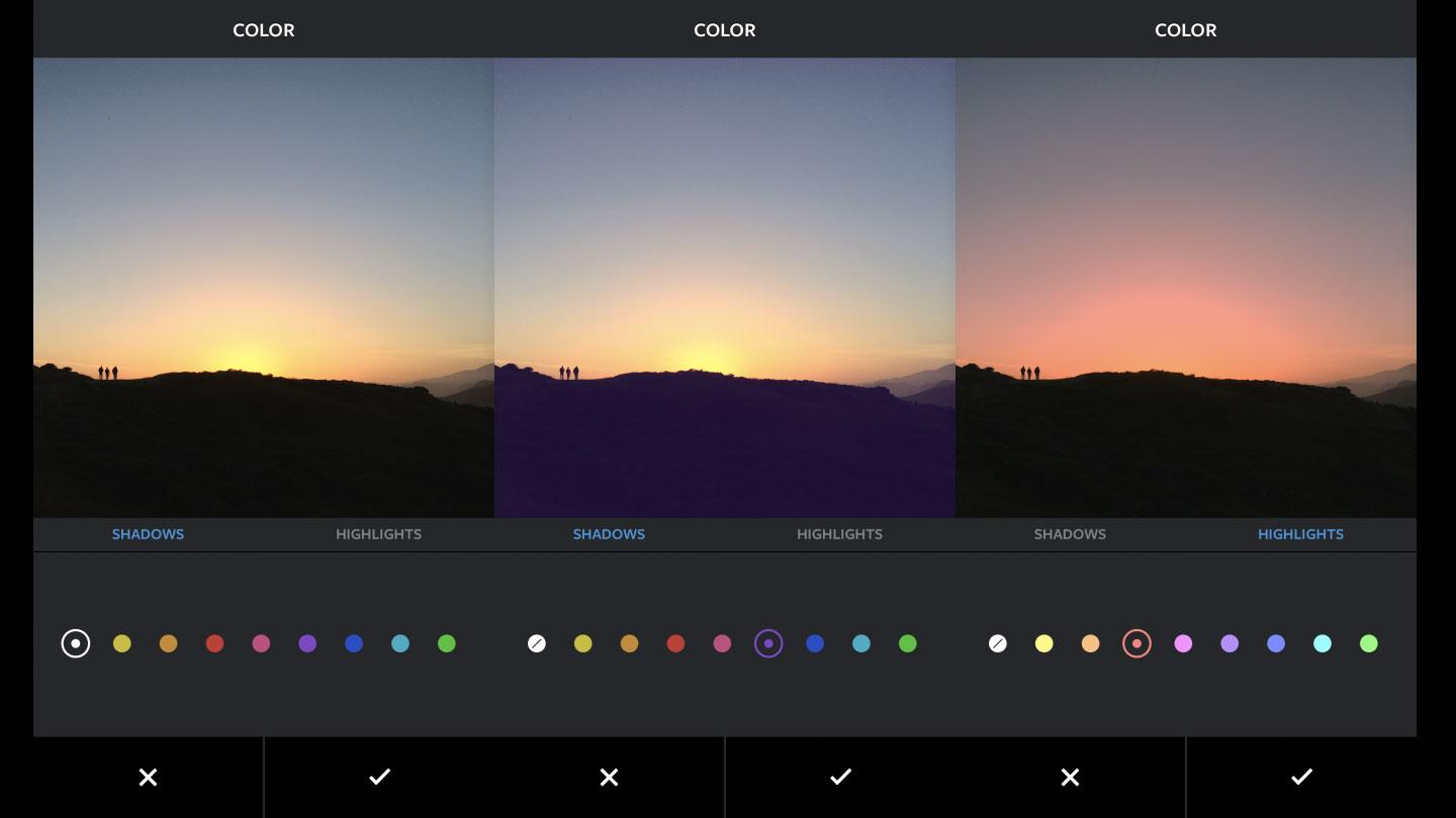 Today Instagram rolled out a couple of new creative tools: Color (pictured) and Fade