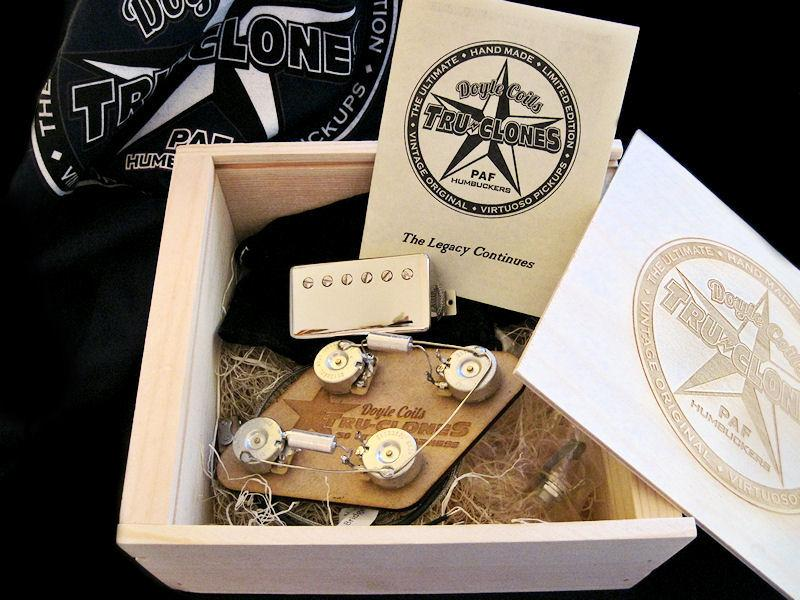 Each limited edition Tru-Clone PAF pickup is hand-made to order following a closely guarded Les Paul secret recipe and shipped as a neck and bridge set in a wooden presentation box with a certificate of authenticity