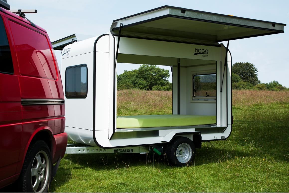 The Mogo Trailer is an open cargo hauler and camper
