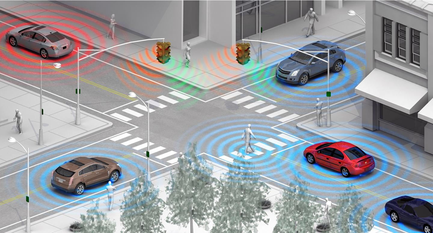 A system using Wi-Fi Direct technology being develop by GM has the potential to detect pedestrians and cyclists before the driver notices them