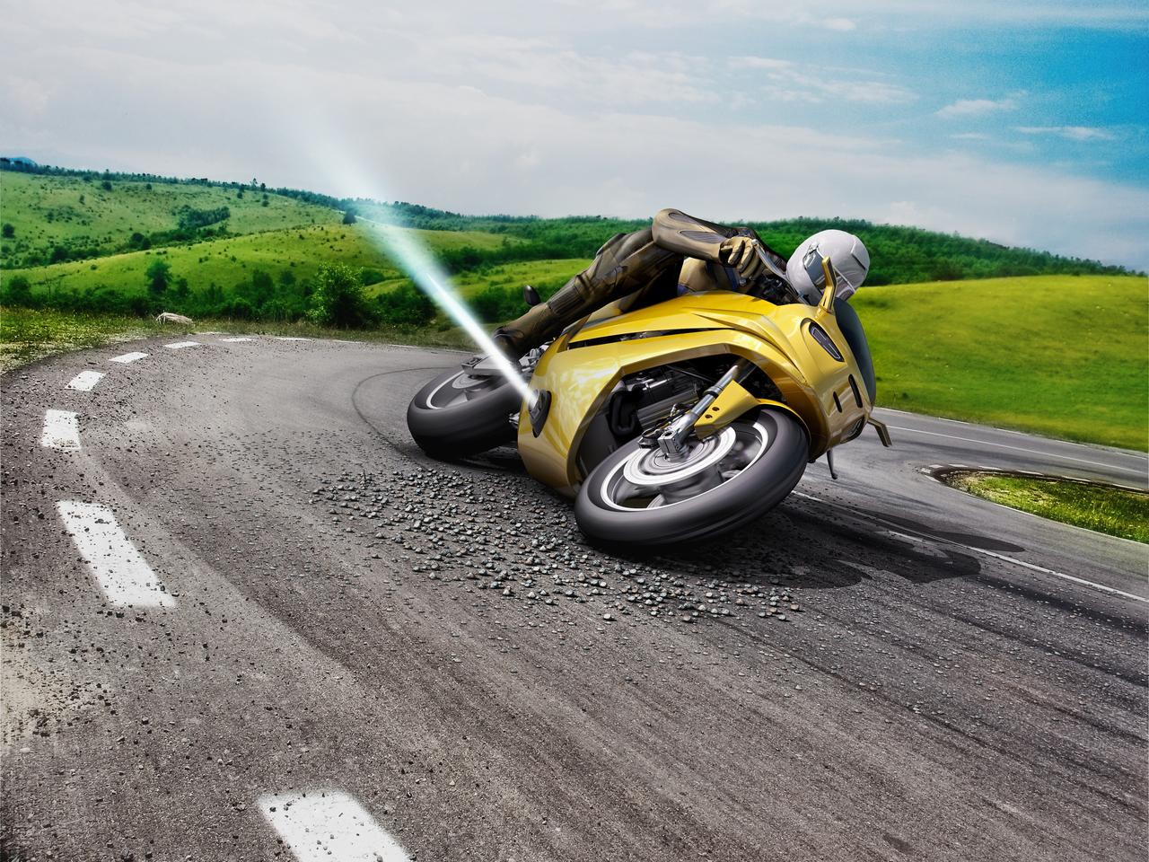 Bosch suggestsadding lateral thrusters to keep the motorcycle upright in the case of a slip