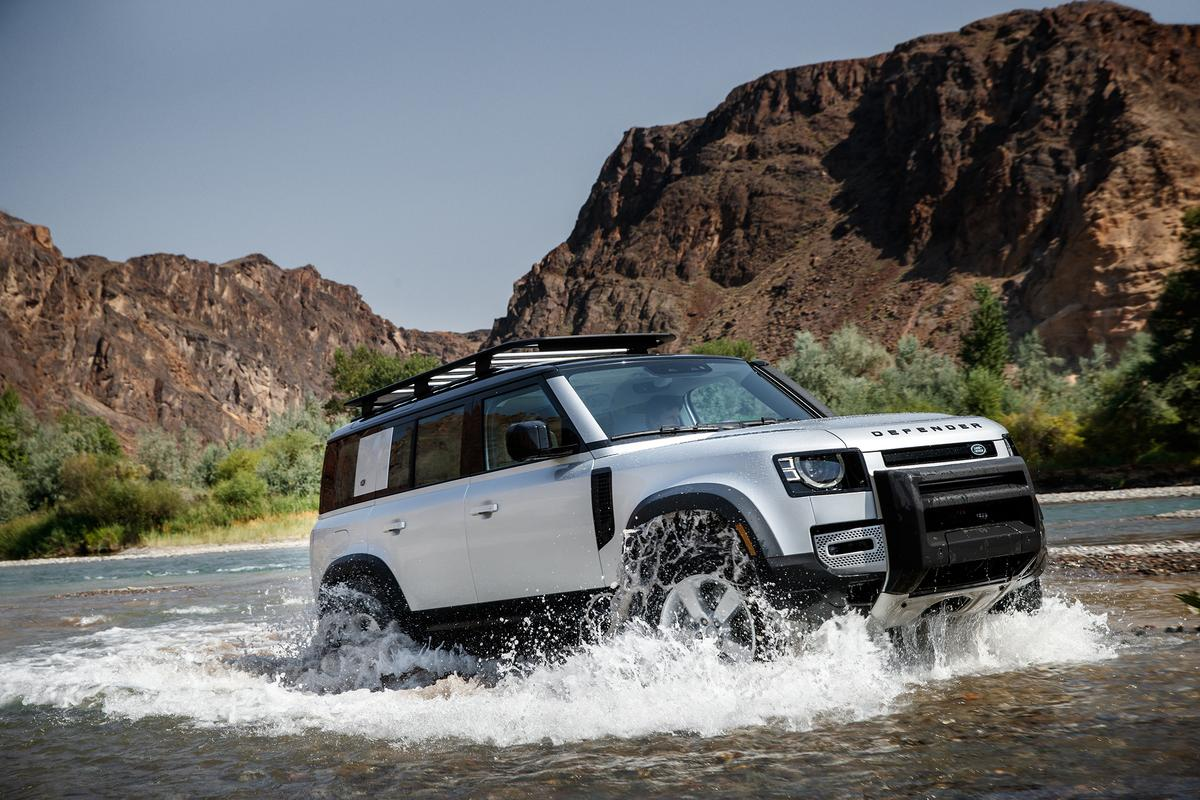 The Land Rover Defender 110 makes its way back to US shores