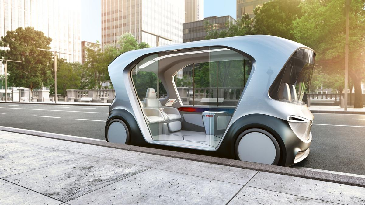 Bosch is planning to play a major rolein the connected autonomous transport services of tomorrow