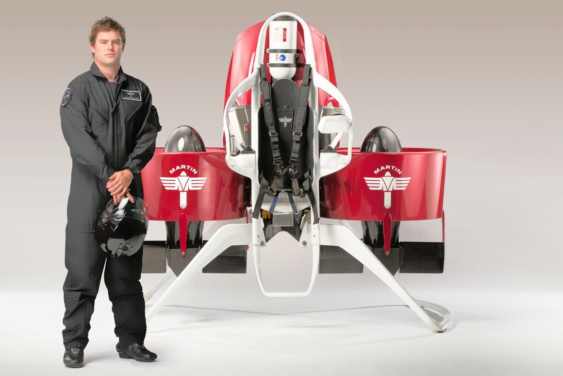 Martin Aircraft's will start deliveries of its new P12 Jetpack prototype in 2014 (Photo: Martin Aircraft)