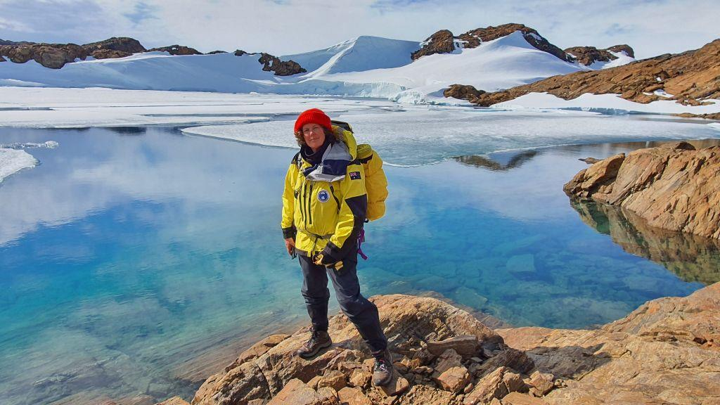 Antarctic ecologist and study author Dr Dana Bergstrom at work
