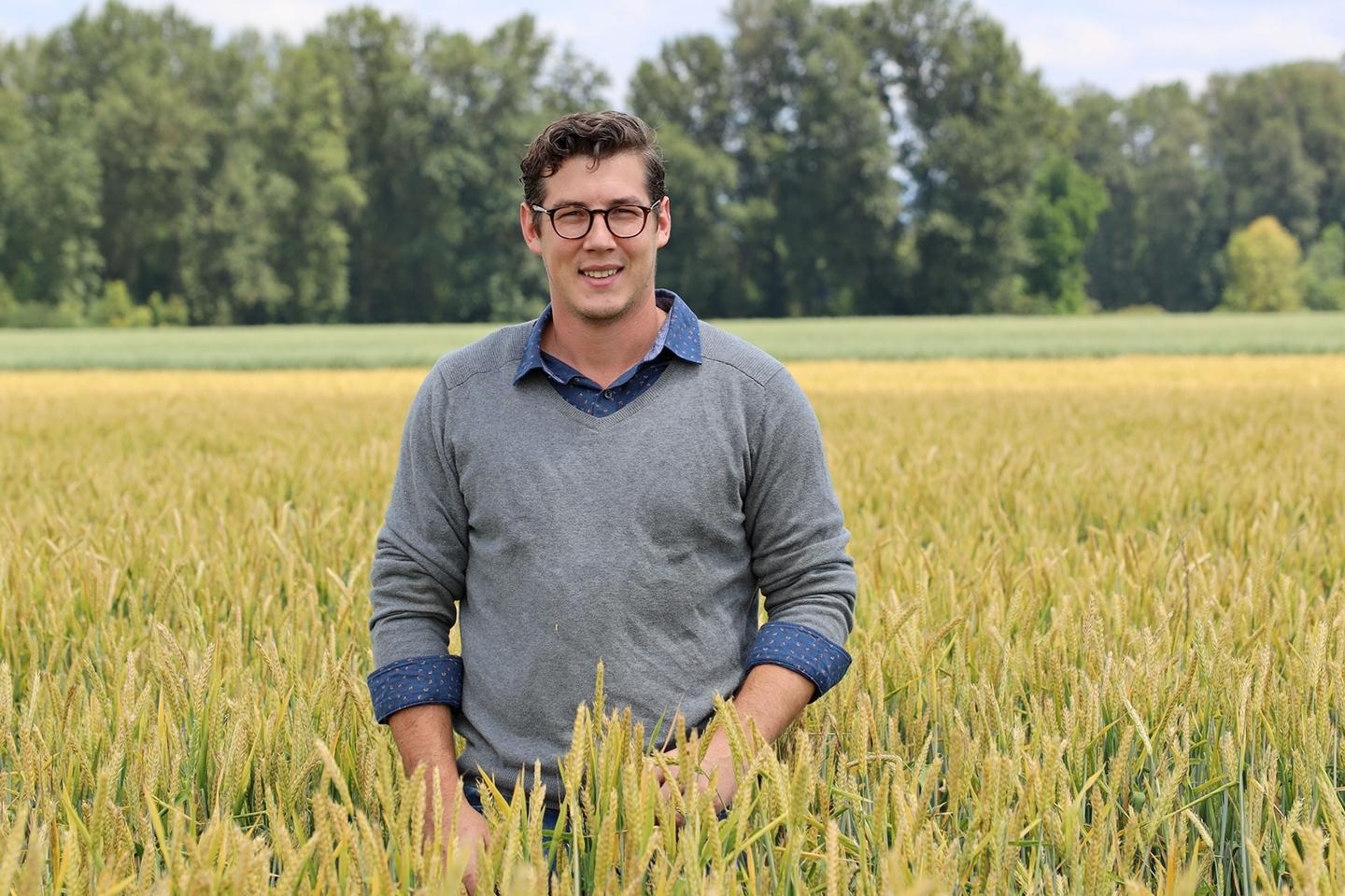 Dr. Dustin Herb, lead scientist of a study on the effects that barley terroir has on whisky