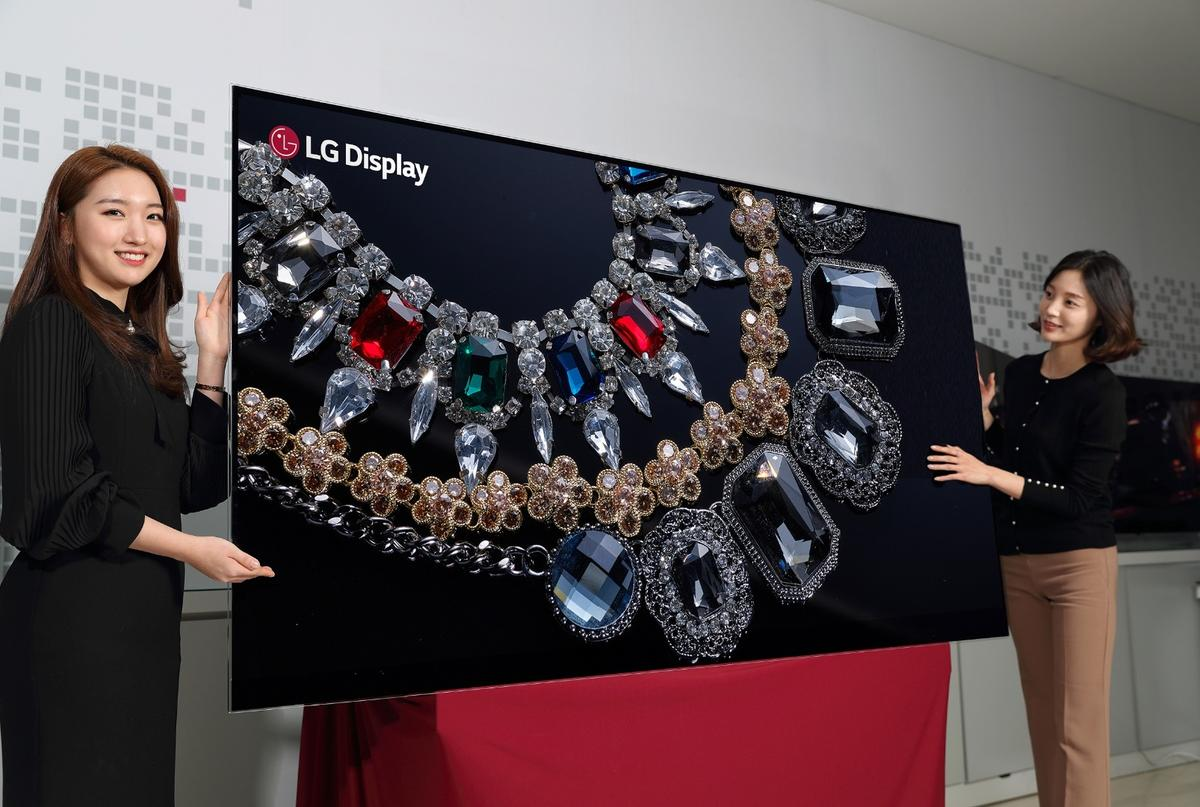 LG Display's 88-inch 8K OLED display packs in 16 times more pixels than a Full HD panel
