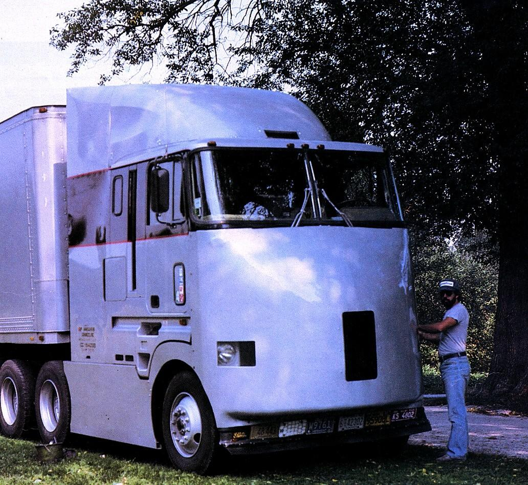 Thefirst generation aerodynamic cabover prototype developed by AirFlow Truck Company