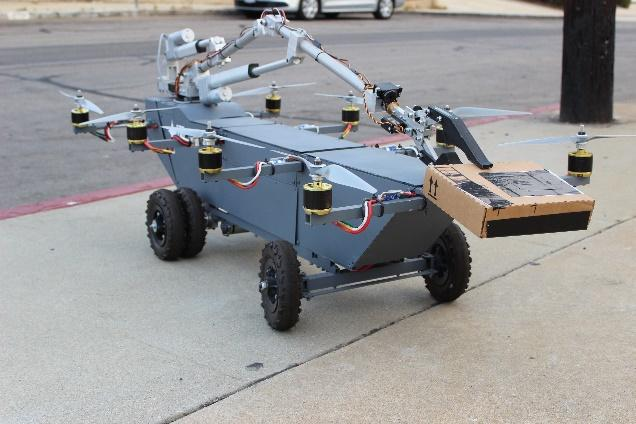 The AT Panther delivery system modified to add a robotic arm