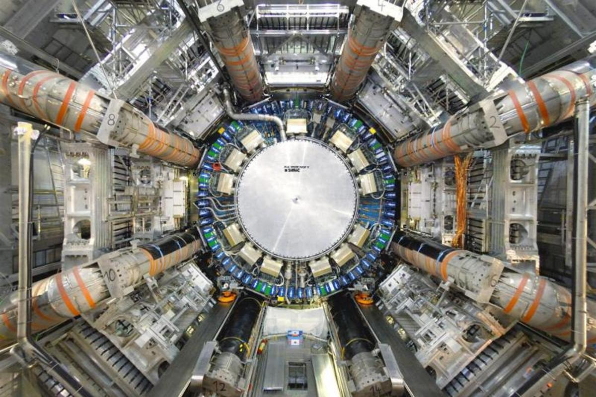 The inside of the ATLAS collider chamber at CERN
