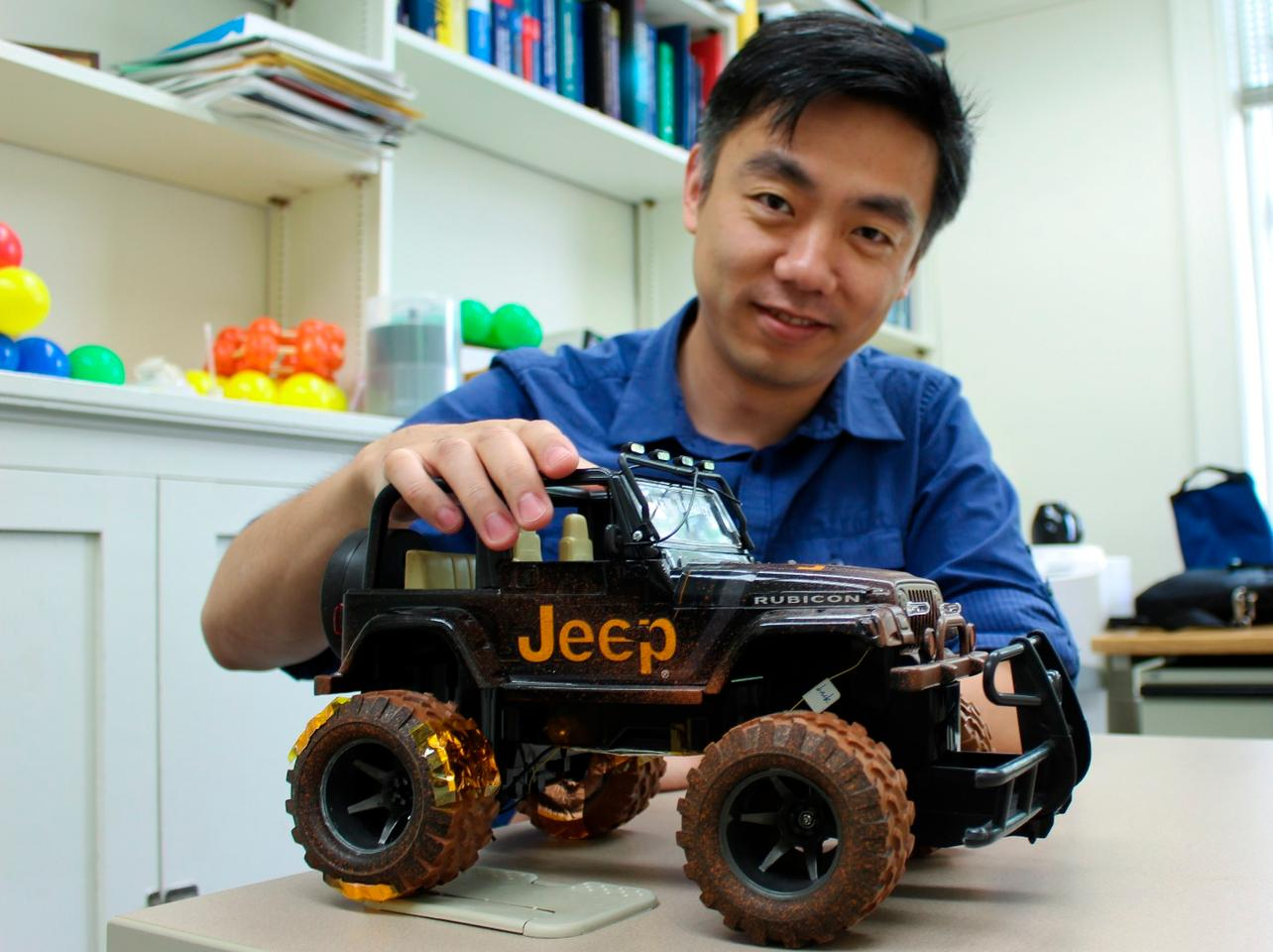 Xudong Wang's team has developed a new way to harvest energy from rolling tires. The researchers used toy cars during the initial trials