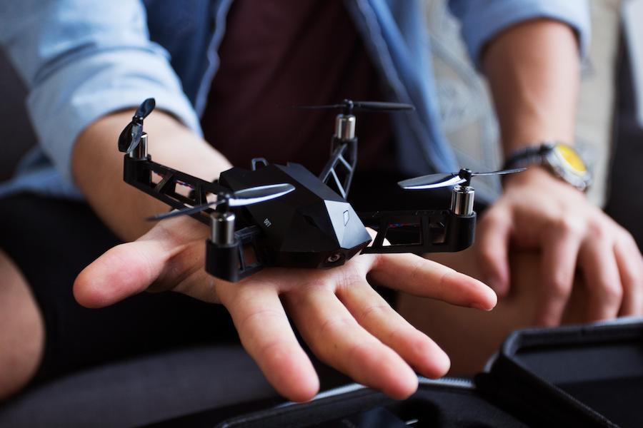 The Kudrone can reportedly be set to a Follow mode, in which it flies along with the user by tracking the GPS coordinates of their phone