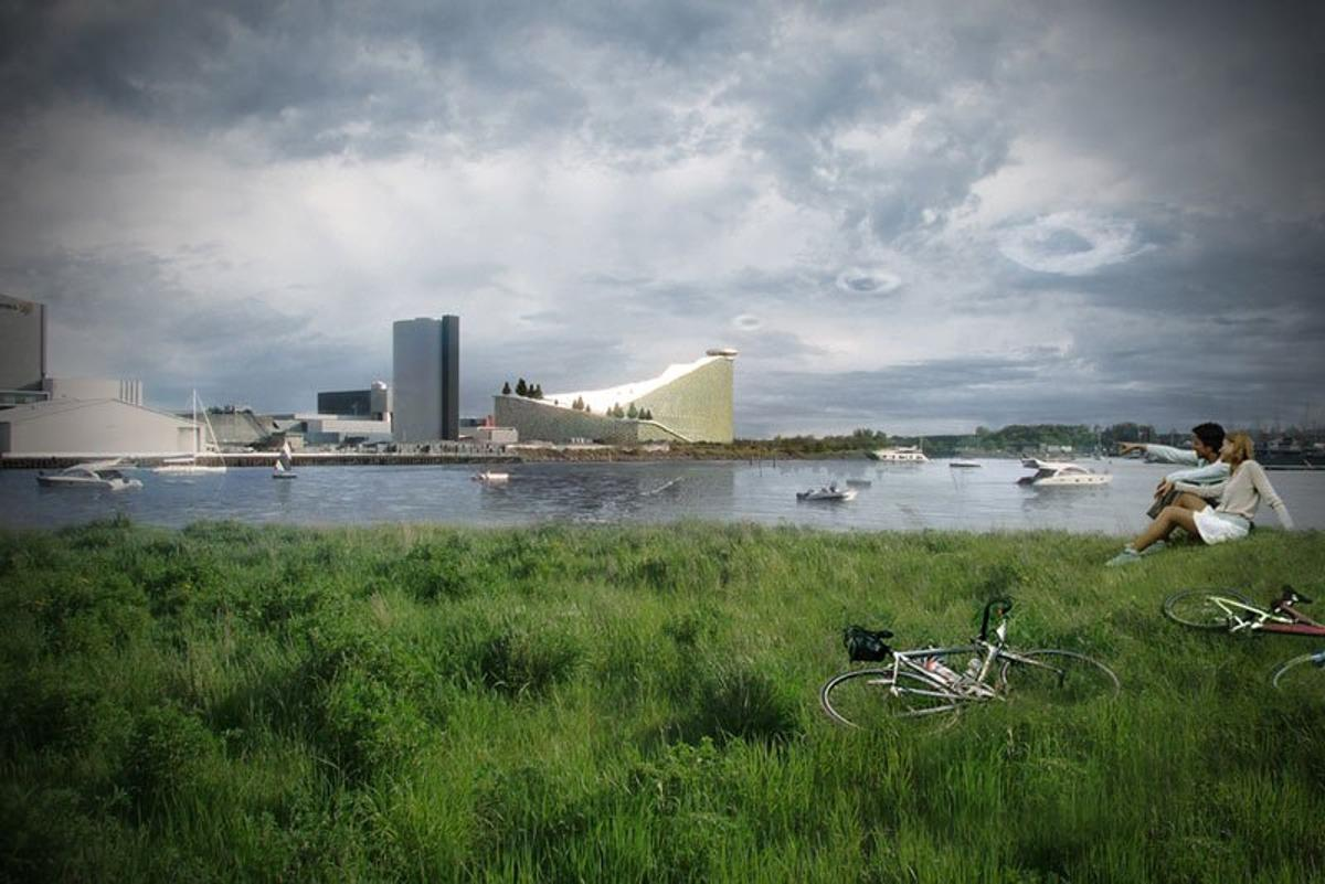 A collaboration led by the Bjarke Ingels Group (BIG) has announced that it's been selected to design a new waste-to-power station that doubles as a ski slope leisure center on the outskirts of Copenhagen