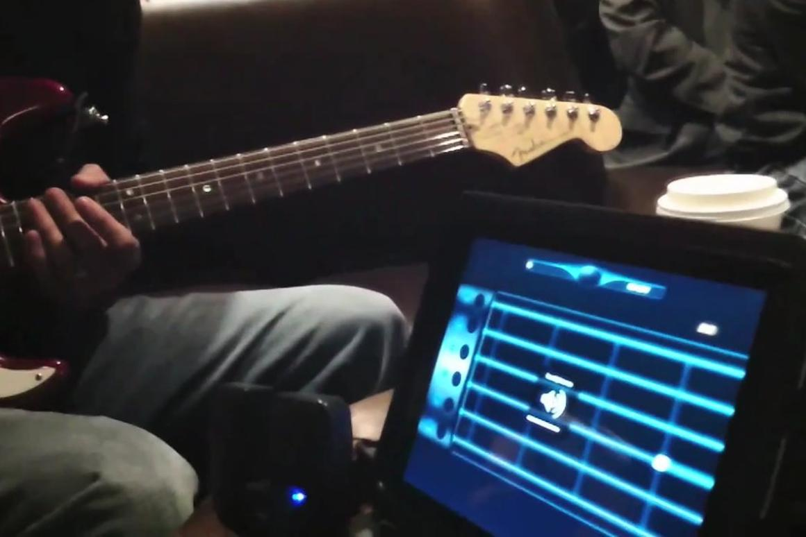 Rock Prodigy is an interactive teaching app for iDevices that offers a quick way to learn, brush up on or hone guitar skills using a real instrument and original recordings