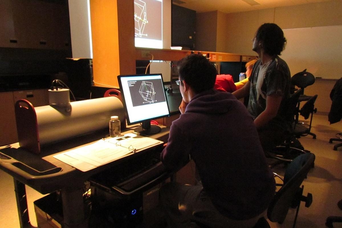 DeskCAT is a miniature visible-light CT scanner, designed for use in medical school classrooms
