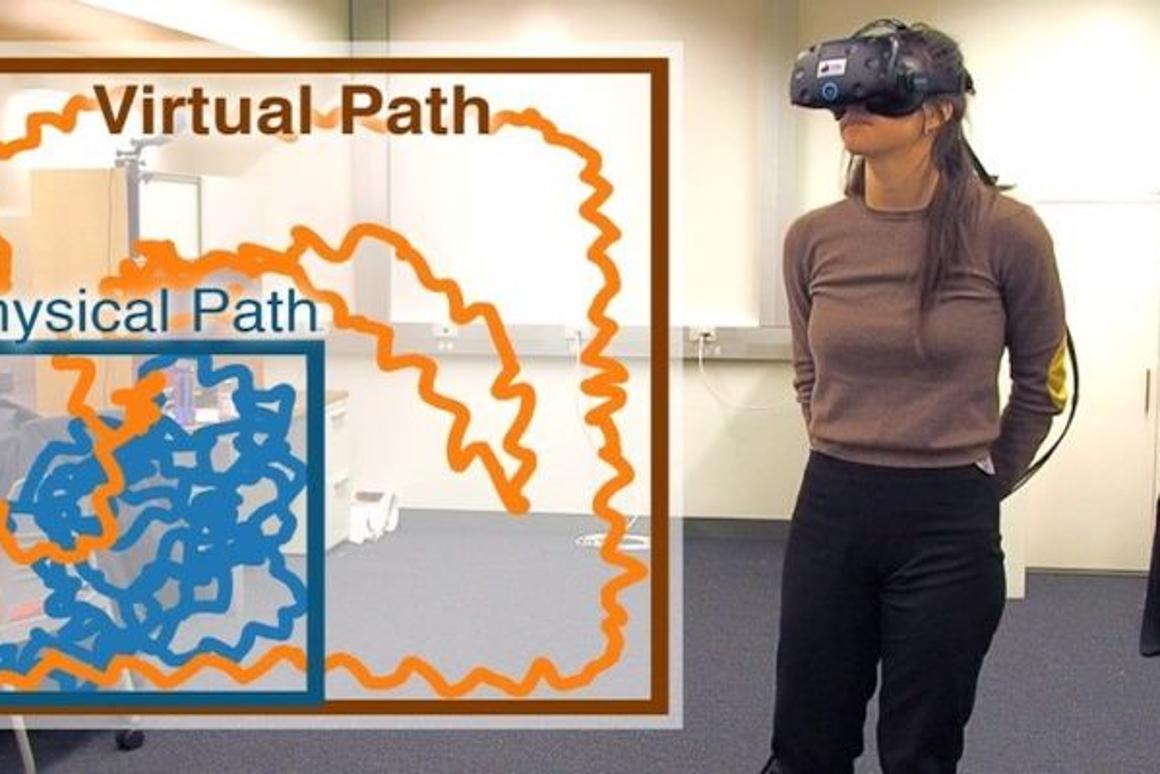 Eye-tracking tech tricks VR players into infinite walking