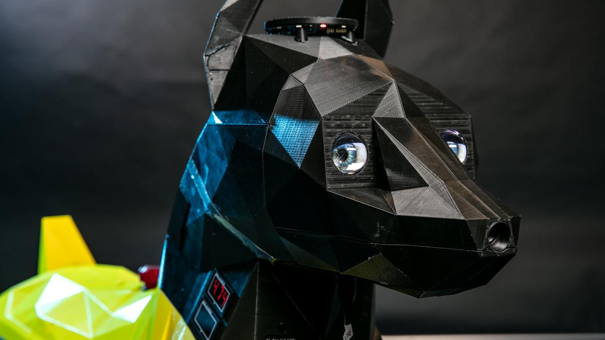 """Astro robo-dog packs an AI-enabled """"brain"""" in its 3D-printed head"""