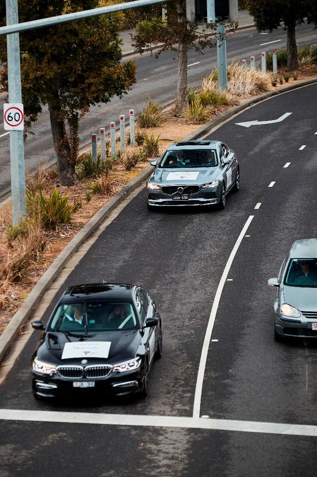 Semi-autonomous test subjects on the streets of Melbourne,Australia