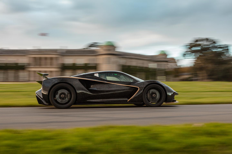 """We're having a great time demonstrating the Evija here at Goodwood,"" said Gavan Kershaw, Director of Vehicle Attributes, Lotus"