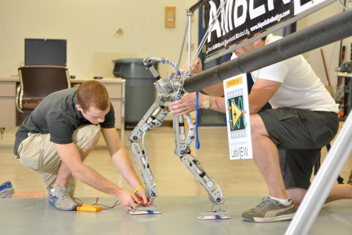AMBER 2 is a robotic simulation of bipedal locomotion that closely mirrors a human gait